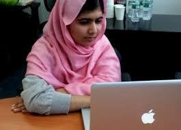 Malala blogging