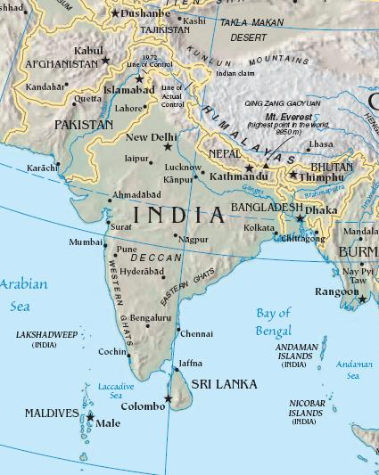 El subcontinente indio